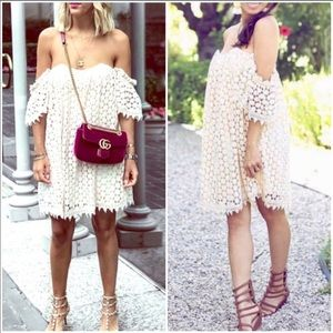 Tularosa Amelia Off The Shoulder Crochet Dress